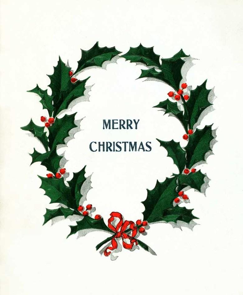 Vintage holy wreath image