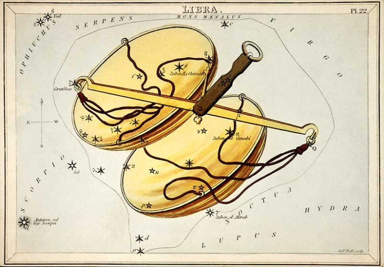 Libra zodiac constellation