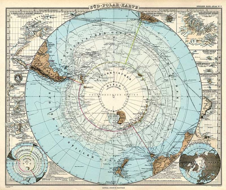 South Pole Map 1891