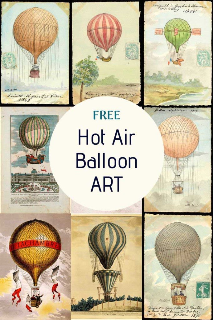 Free Hot Air Balloon Prints