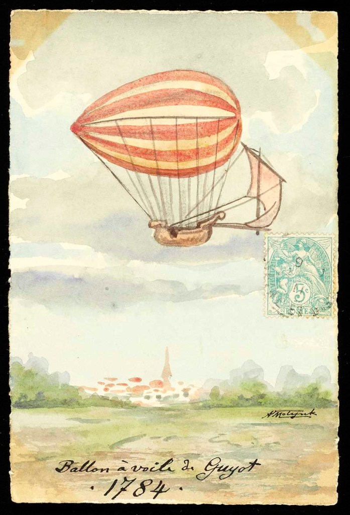 airship style hot air balloon