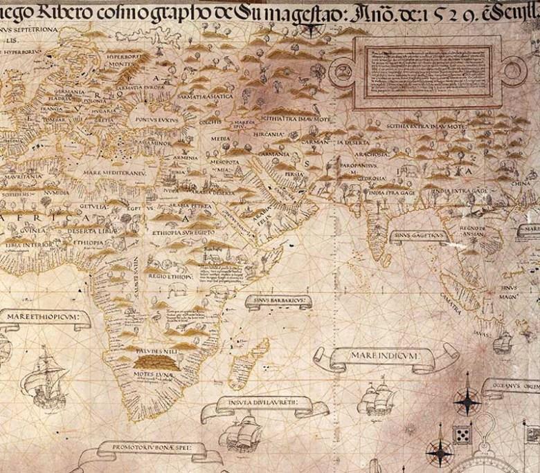 Dieog Ribero Map of Africa