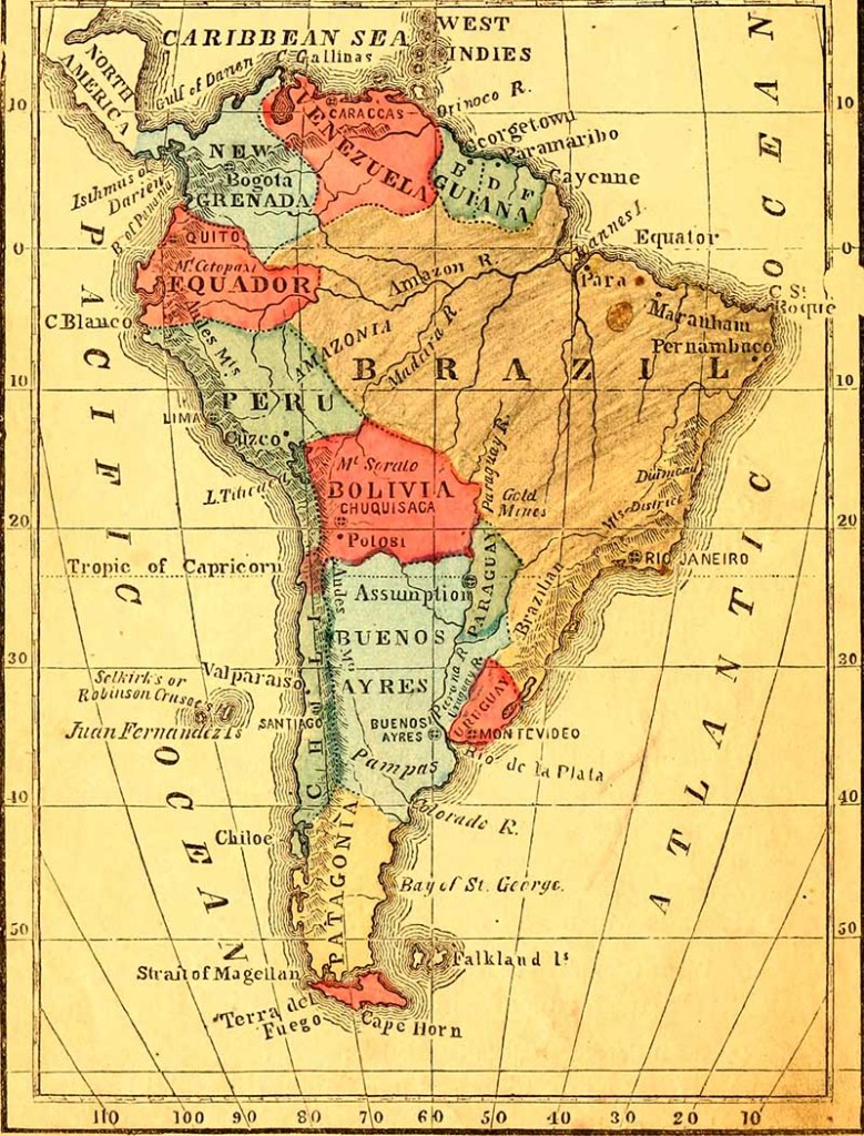 School map of South America
