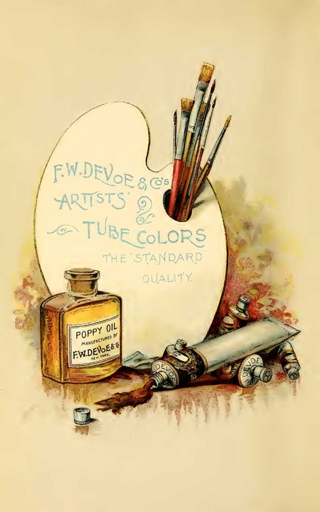 Vintage art supply ad