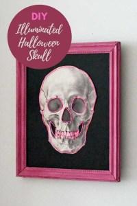 DIY skull decor for Halloween