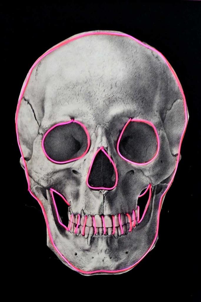 skull lit up