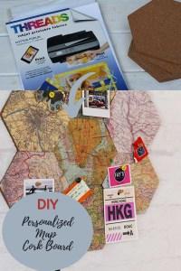 DIY map pin board