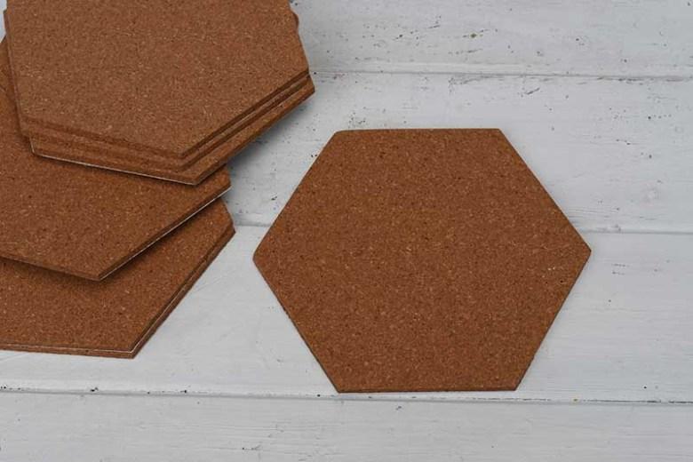 Blank cork tiles