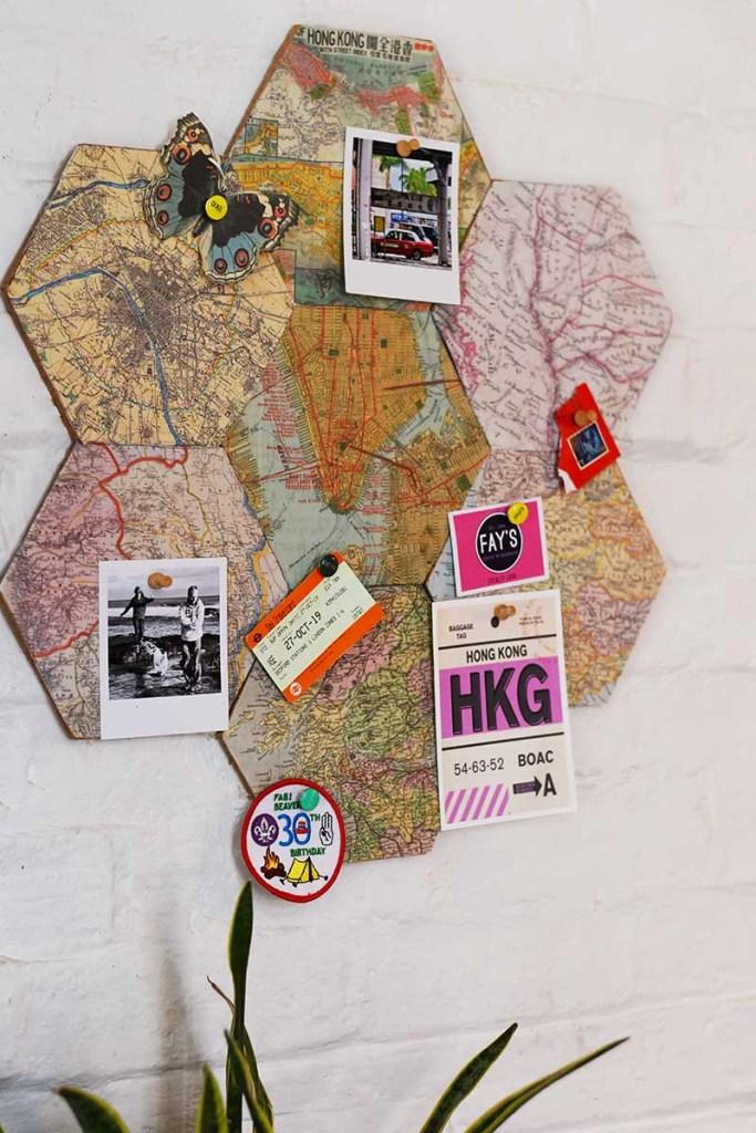 DIY Map corkboard
