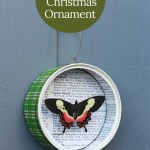 upcycled tin can butterfly ornament