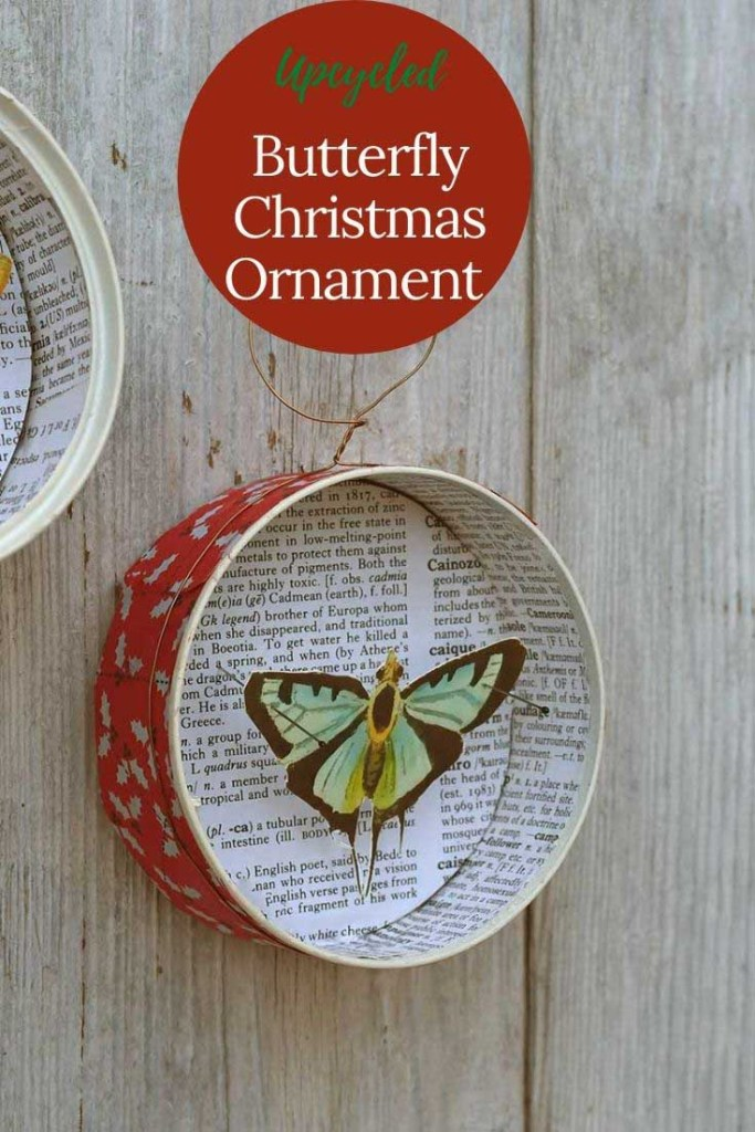 DIY butterfly Christmas decoration