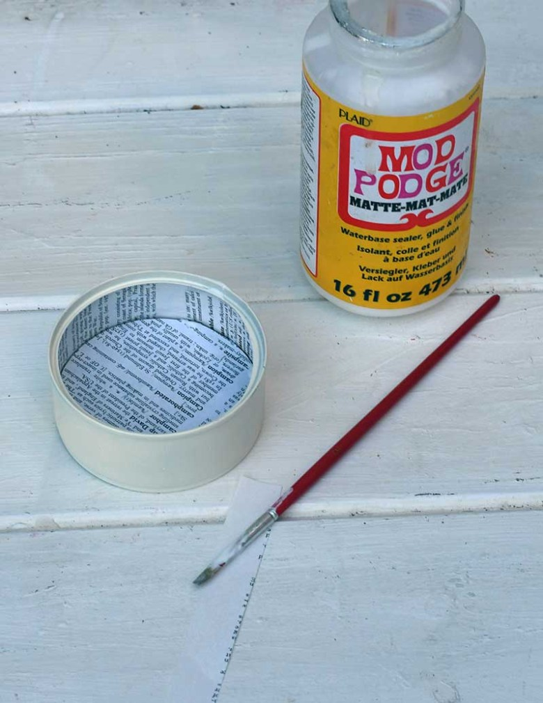decoupage tuna can