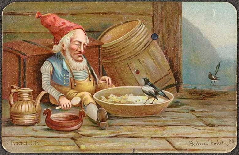 Nisse with porridge