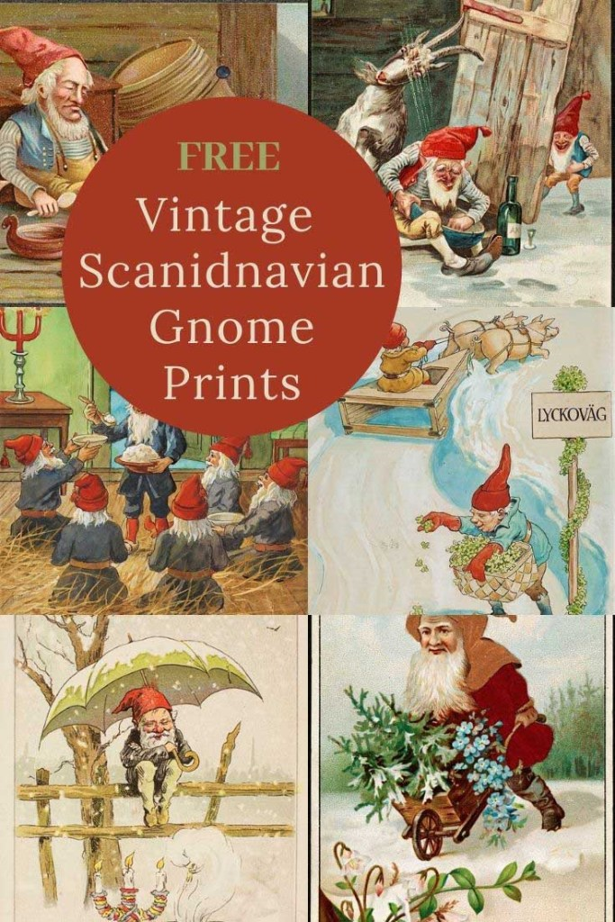 Free illustrations of Scandinavian gnomes