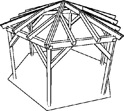 sechseck pavillon holz bauanleitung - boisholz,
