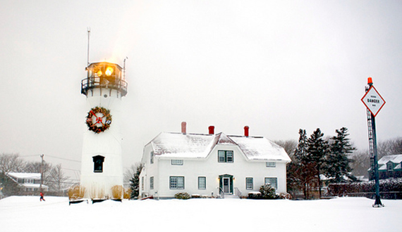 """""""Christmas Lighthouse"""" captured by Christopher Seufert. (Click image to see more from Christopher Seufert.)"""