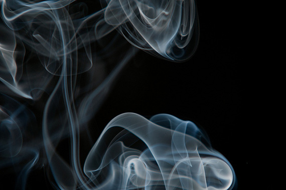 smoke on dark background
