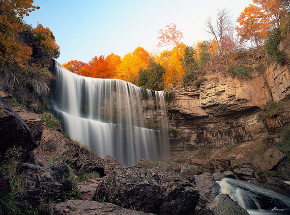 """Webster Falls Revisited"" captured by Paul Bica on Flickr."
