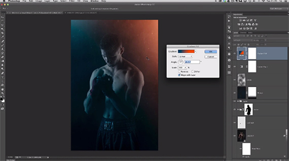 gradient photoshop lighting