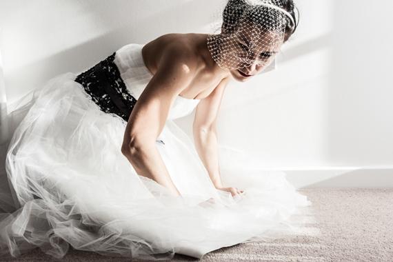 white bridal photography