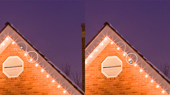 How to fix holiday lights in lightroom