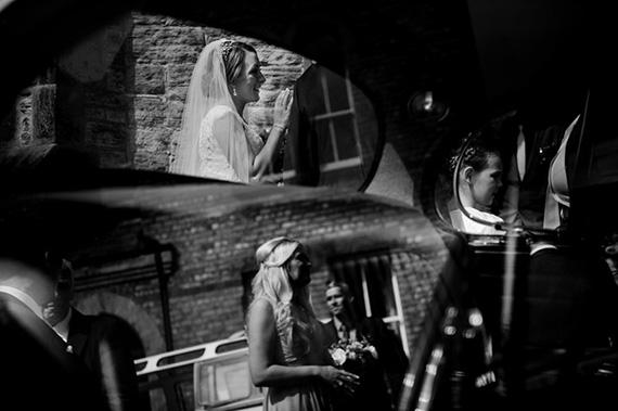 wedding photos with mirrors
