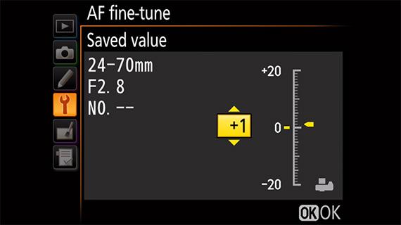 AF performance adjustment