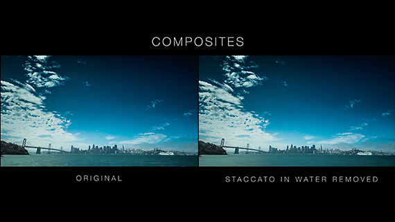 timelapse with and without staccato