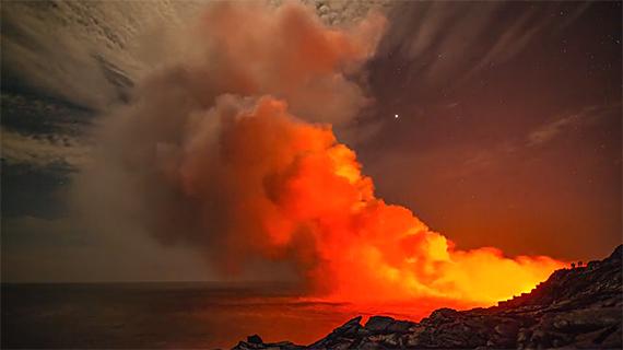 lava flow ocean entry photo