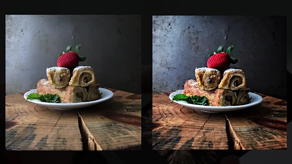 still life before and after edit