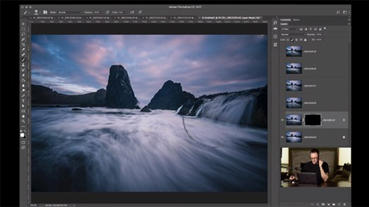 blending exposures to create a seascape