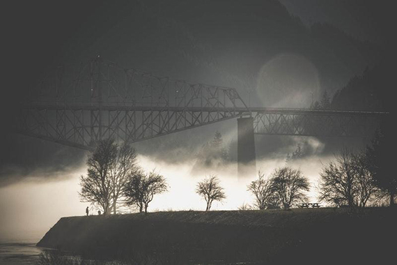 bridge fog mist