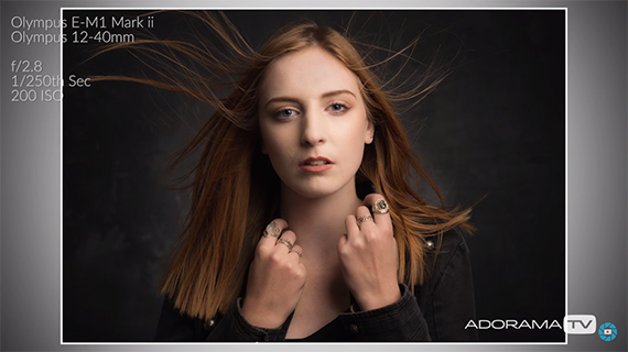 wind direction and studio portraits