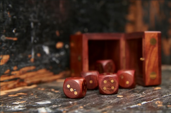 photo of dice with texture