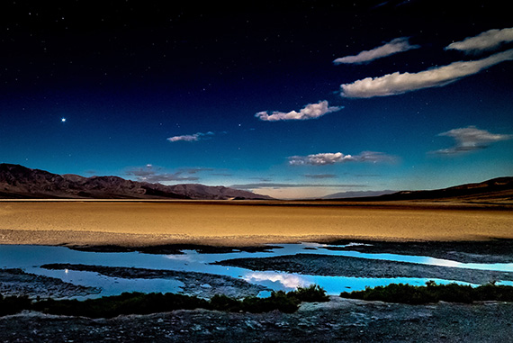 death valley moonlight photo