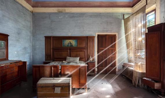 abandoned building natural light