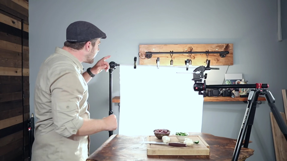 diffusing light for budget food photography