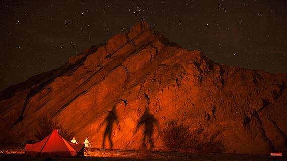 image taken using camp lights