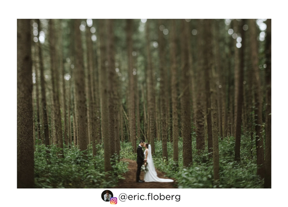 wedding photo with tilt shift effect