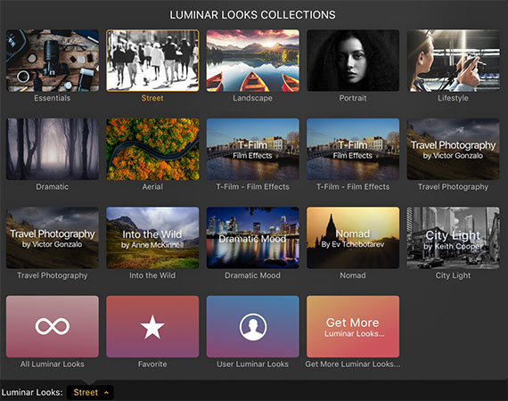 luminar looks collections
