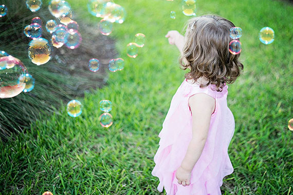 bubbles children's portrait