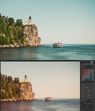 lightroom editing lighthouses