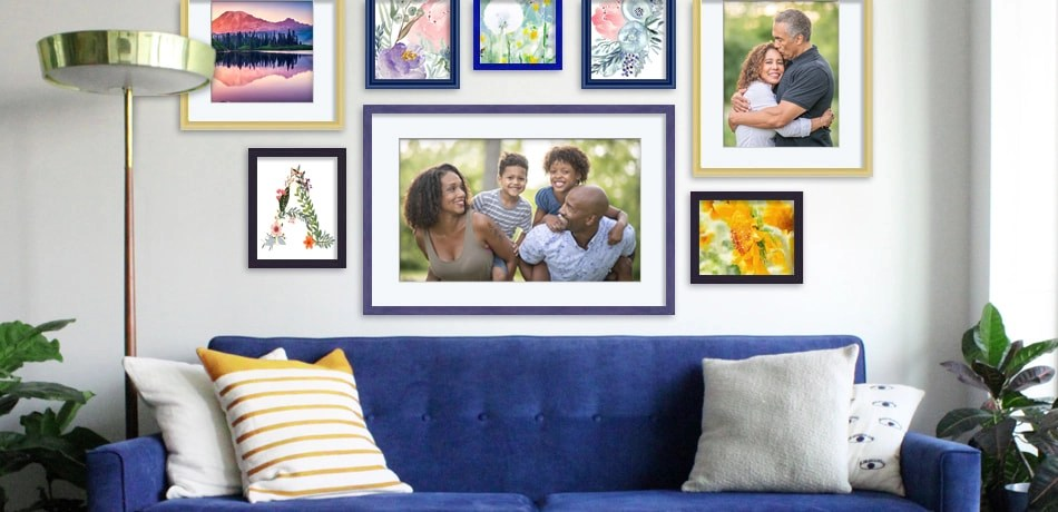 metal picture frame collections