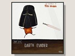 Darth Evader by Tony Cribb Box Framed Artcard
