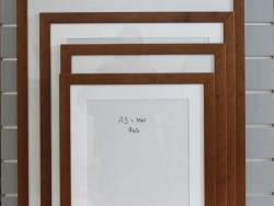 A3 Plus Mat Readymade Frame Distressed Rimu Stain