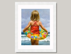 Water Ring by Barry Ross Smith Framed Print