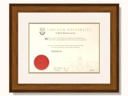 Lincoln University Degree Frame