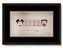 Mickey To Tiki Tu Meke by Dick Frizzell Framed Print