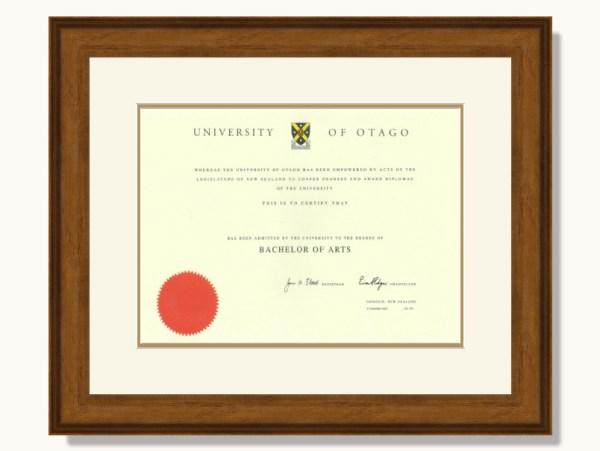Otago University Degree Frame