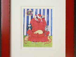 Red Chair by Andrea Doidge Framed Print